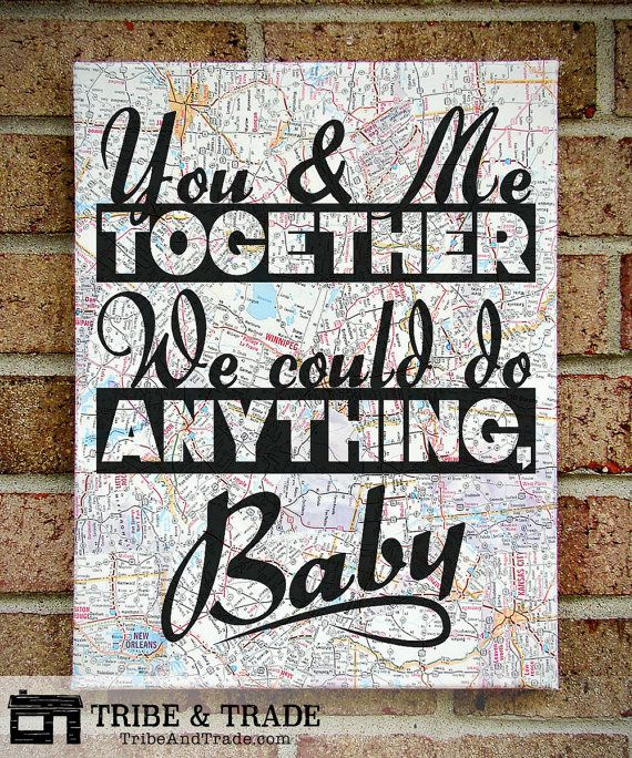 Dave Matthews Band : You & Me Together We Could by TribeAndTrade (Art & Collectibles, Prints, wall art, quote on canvas, canvas art, lyrics on canvas, song lyrics art, sheet music, DMB, Dave Matthews Band, You and me, you and me together, we could do anything, dave matthews lyrics, anniversary gift)