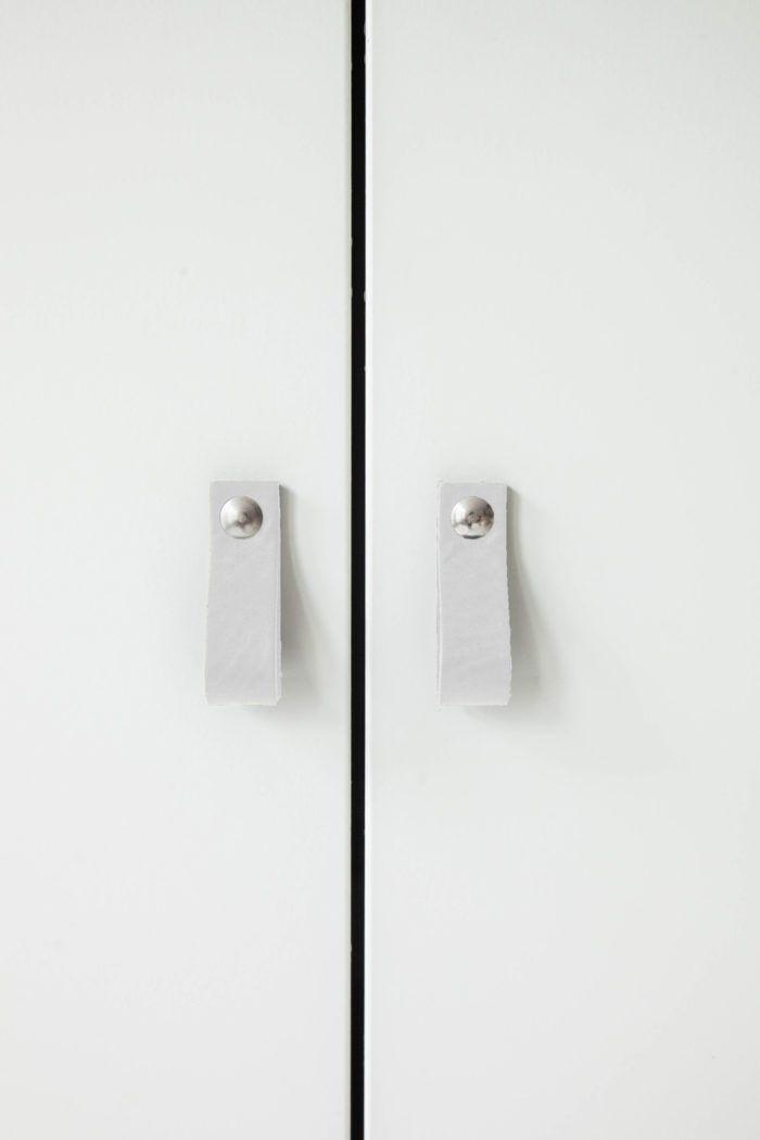 Design Studio Nu - leather handle - handle - size 4  - white