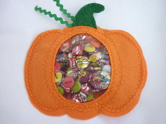 """Bolsita de regalo para chuches  """"Calabaza de Halloween"""""""
