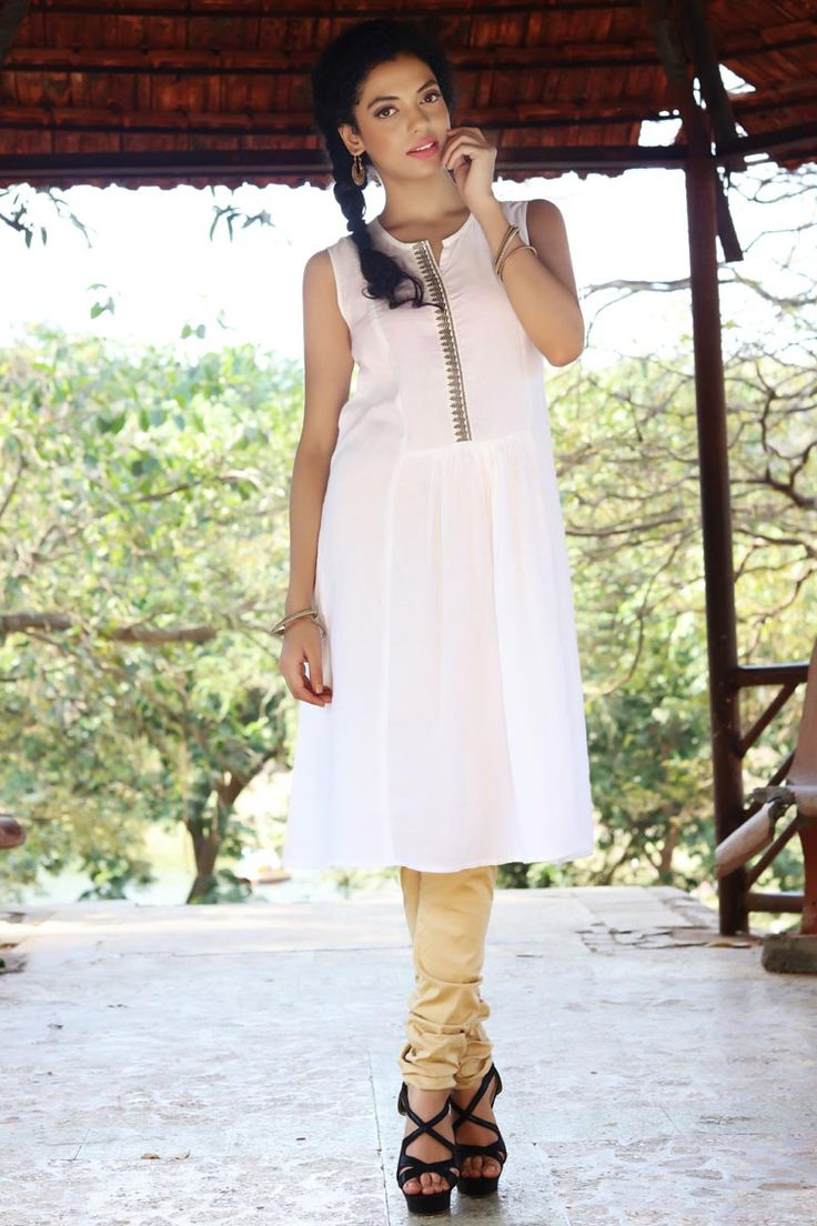 New Arrival White Crepe Latest Stylish Readymade Indo-Western Kurti Buy Now :- http://goo.gl/9jBbym To Order you Call or Whatsapp us on +91-95121-50402. COD & Free Shipping Available only in India.