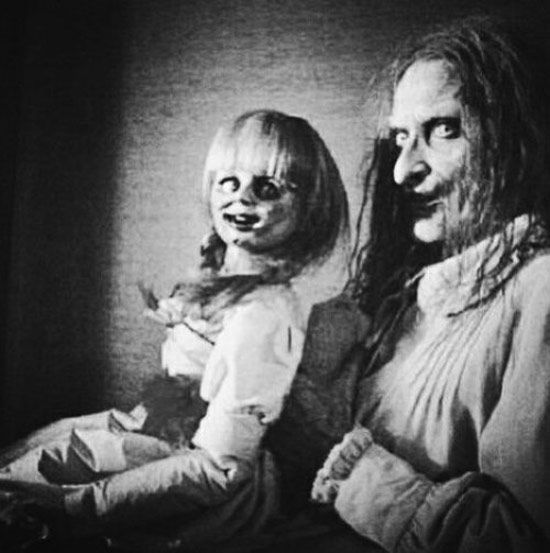 Creepy Old Vintage Photos~ scary woman with creepy doll