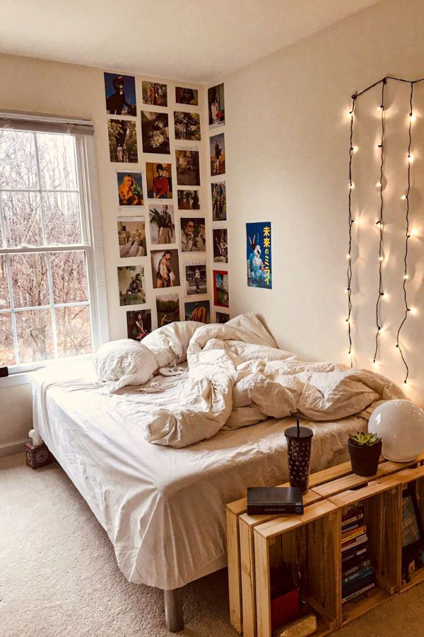 49 Beautiful Aesthetic Bedroom Design Ideas For Your Home Part 16 In 2020 Dorm Room Decor Small Room Bedroom Aesthetic Bedroom