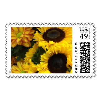 Sunflower Greetings Flowers Postage