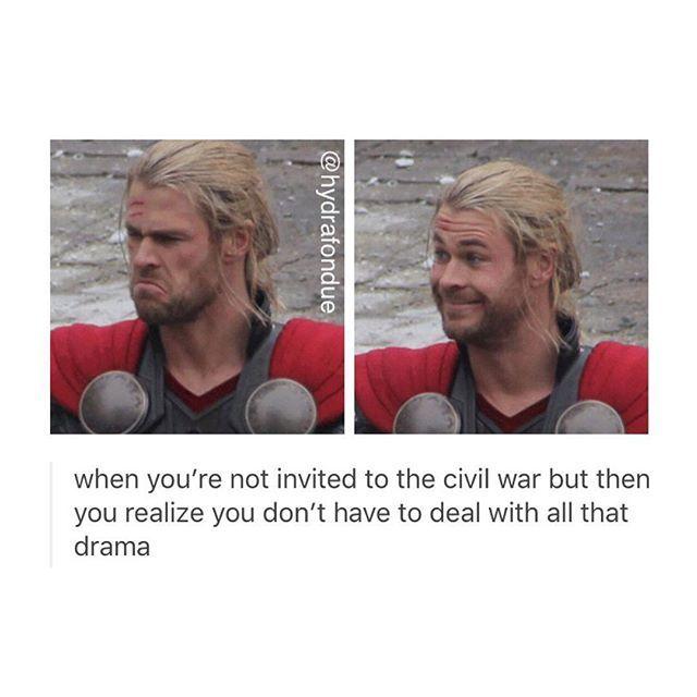 Lucky you Thor