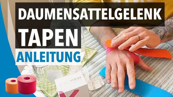 DAUMENSATTELGELENK TAPEN / STABILISIEREN - Daumen tapen Anleitung - Kine...