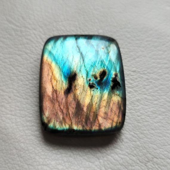 Pendant Jewellery Making Oval Shape 25*15*8mm 25Cts Blue Flashy Rainbow Moonstone Loose Gemstone AAA Quality Natural Rainbow Moonstone