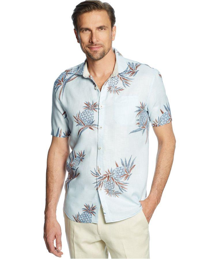 Tommy Bahama Big and Tall Pineapple Aficionado Linen Shirt - Tommy Bahama - Men - Macy's