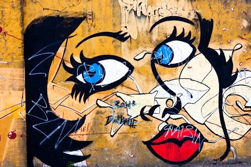Street-art et grafiti dans le quartier Chantenay-Saint-Anne à Nantes