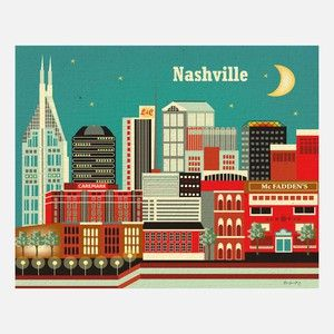 Nashville Print, $20, now featured on Fab.