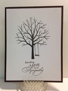 Sheltering Tree, Masculine Sympathy Card, Stampin' Up!, Rubber Stamping, Handmade Cards