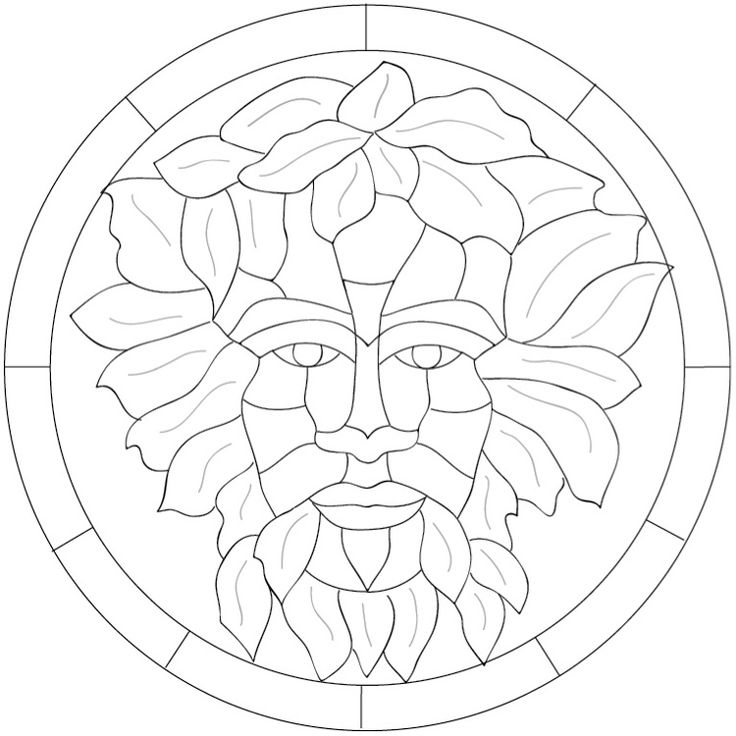 green man coloring pages - photo#29