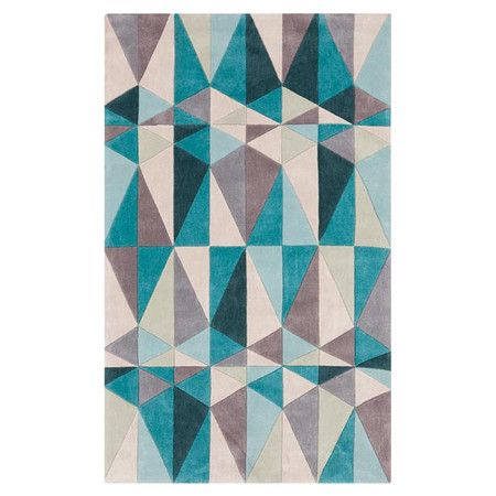 $212 Hand-tufted rug with a geometric motif.   Product: RugConstruction Material: Poly-acrylicColor: ...