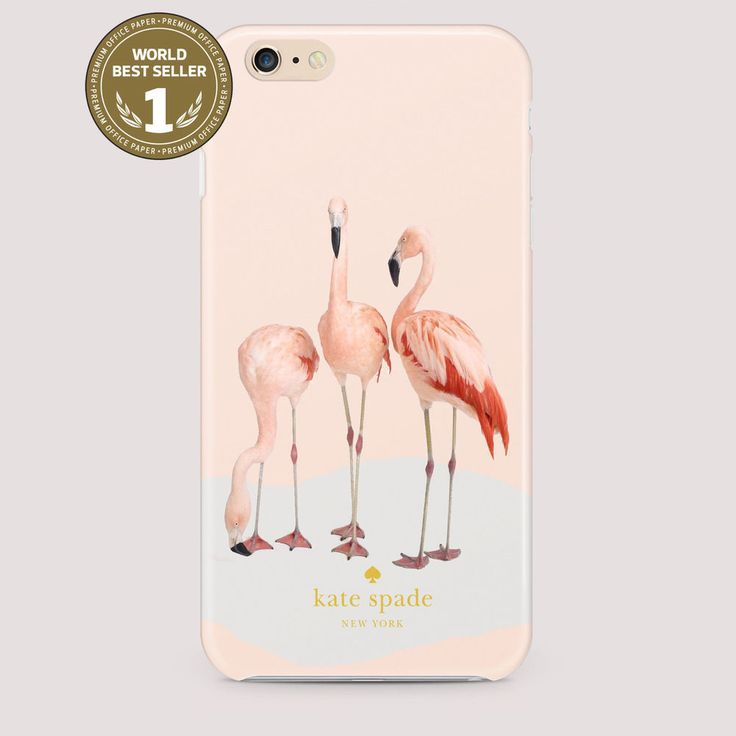 new Flamingo Kate Spade pink fit For Apple iPhone iPod Samsung Galaxy Case