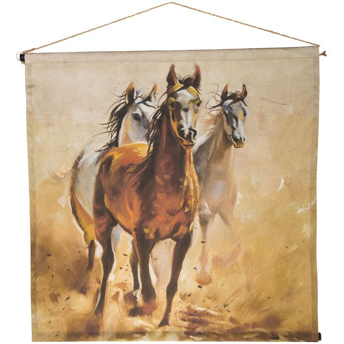 Running Horses Canvas Tapestry Wall Decor Wall Tapestry Running Horses Horses