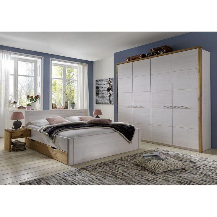 Die besten 25+ Schlafzimmer komplett massivholz Ideen auf - schlafzimmer bett 200x200