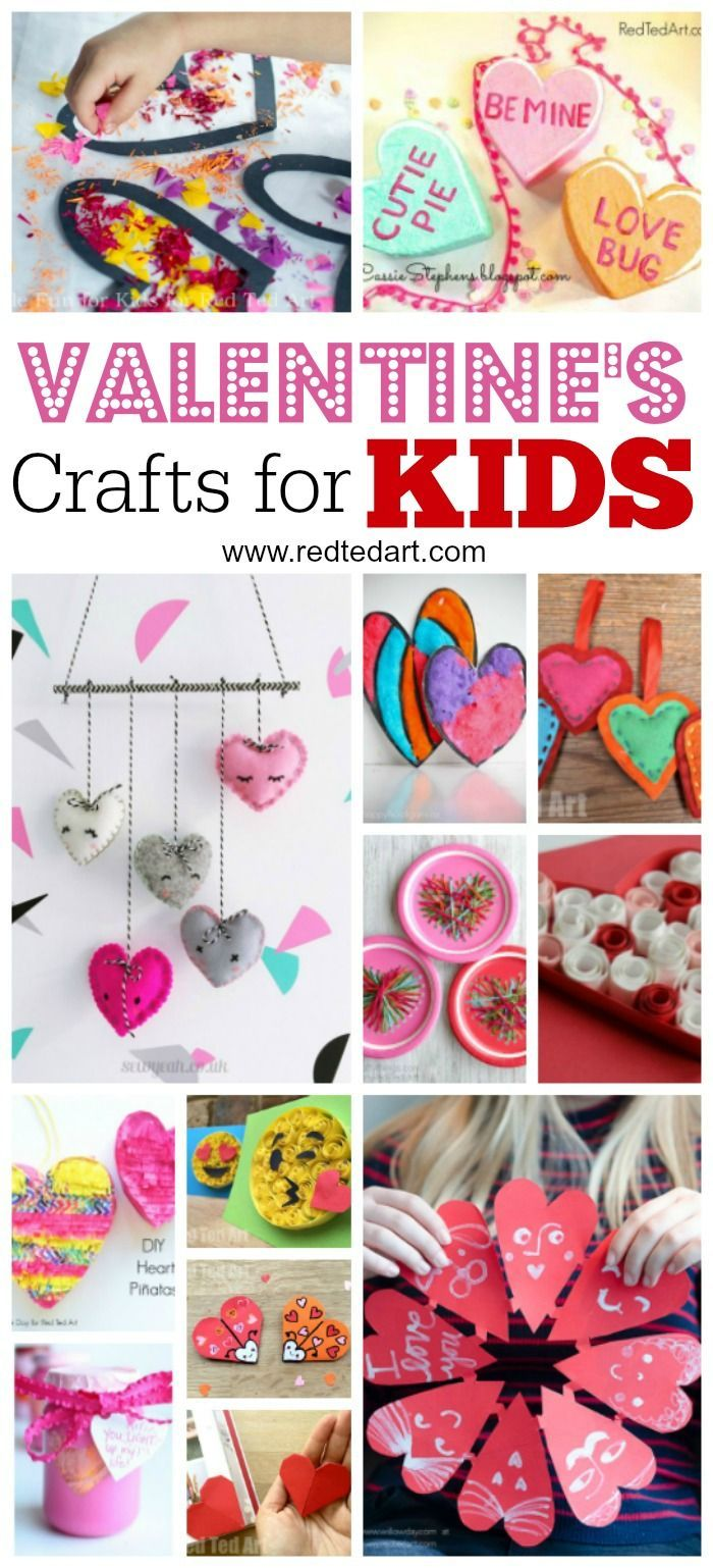 Kids' Valentine's Day Ideas & Crafts. A fantastic set of Valentine's Day Crafts for Kids. Get Valentines ready with these great Kids projects. From Valentines Cards to Valentines Gifts in the classroom #valentines #kidsvalentines #valentinesday #kidscrafts