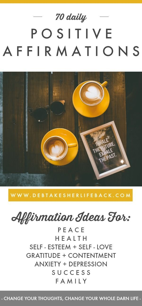Ready to start living the life you've always wanted? This free worksheet is jam-packed with 70 affirmations that will help you rewire your brain and thought patterns, to make the life you want a reality! #free #printable #printables #worksheet #worksheets #daily #positive #affirmations #affirmation #self #esteem #motivation #mornings #for #anxiety #depression #health #positivity #law #of #attraction #morning #routine