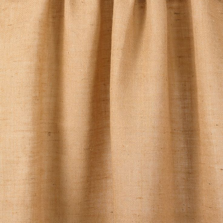 Burlap Jute Country Farmhouse Natural Lined Curtain Panel