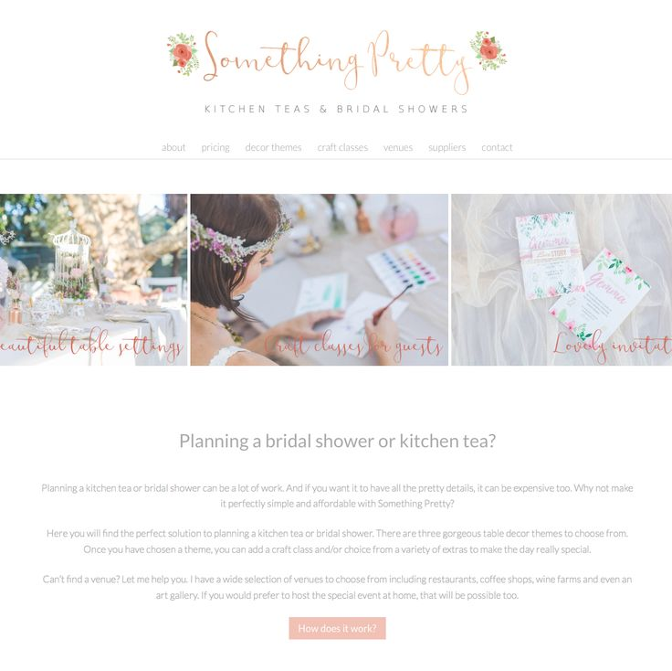 Cute, watercolor inspired website design running on an Angie Makes Wordpress theme. Just lovely!