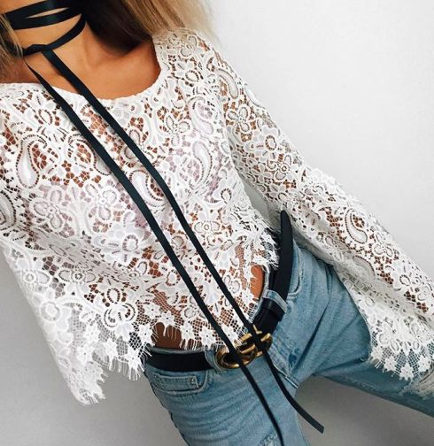 bolos + lace + denim