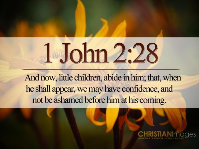 Image result for 1 John 2:28
