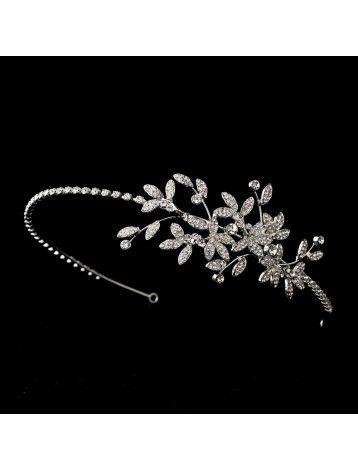 VINTAGE INSPIRED CRYSTAL VINE SIDE HAIRBAND - BRIDAL WEDDING HAIR ACCESSORIES - Wedding Hairbands - Wedding Hair bands - Wedding Hair Accessories - Wedding Accessories