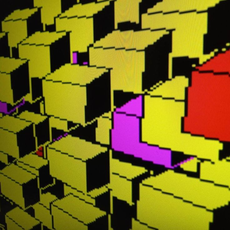 3D Conway's game of life on BBC micro #gameoflife #bbcmicro #retro