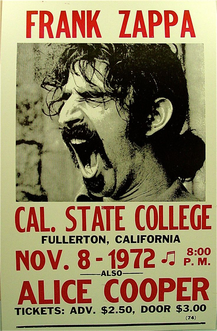 Frank Zappa And Alice Cooper Classic Rock Psychedelic