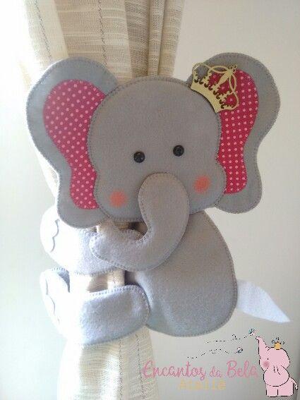 Prendedor de cortina elefante                                                                                                                                                                                 Más