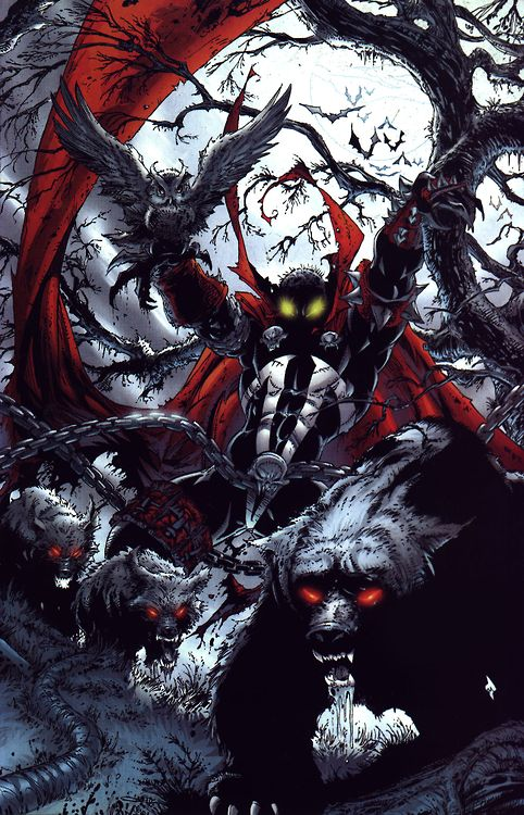 Spawn by Greg Capullo this is my most favorite spawn artwork out there its just perfect and cohesive and very well done.