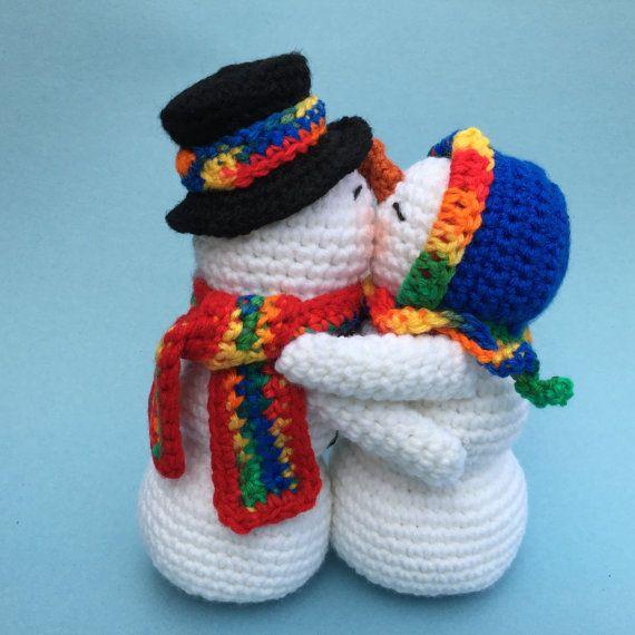 KISSING SNOWMEN PDF Crochet pattern (English only)
