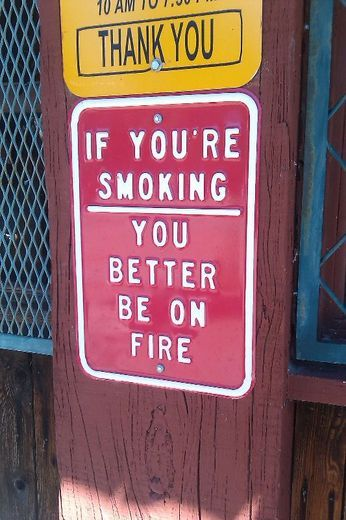 If I ever own a company, this sign will be out front.