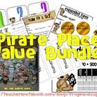 The package includes 5 games, 3 sets of exit slips, 2 pre-assessments, 1 art project, and vocabulary cards and posters--all place value and ALL pir...