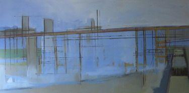 "Artist steven heffer; Painting, ""cement works greenwich I 2006"" #art"