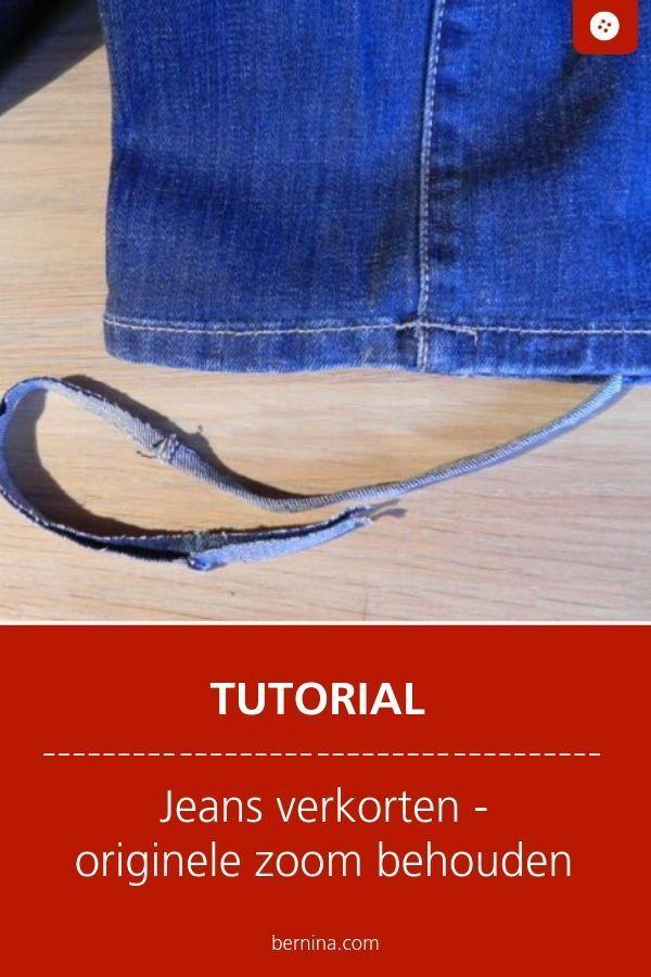 Verkorten van een jeans: Methode 2 Behoud van de originele