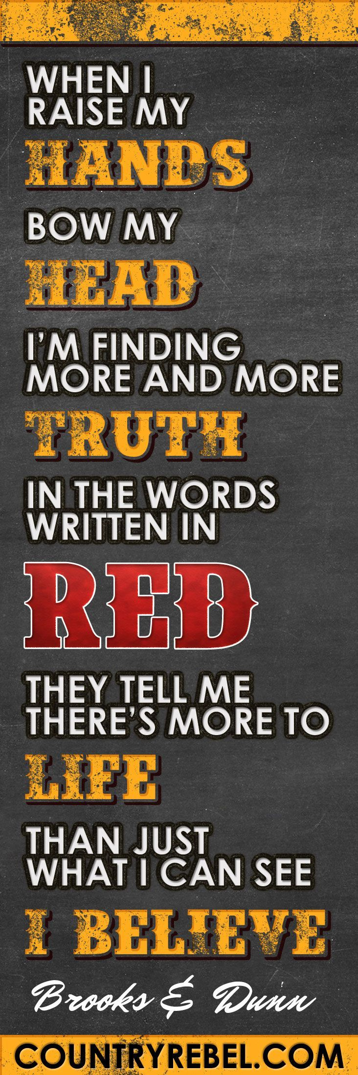 Country Music Lyrics and Quotes - Brooks and Dunn - Believe