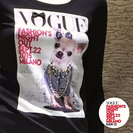 Questa è la t-shirt ufficiale #Ean13 creata ad hoc in occasione per la Vogue Fashion's Night Out a Milano 2015. #VFNO15