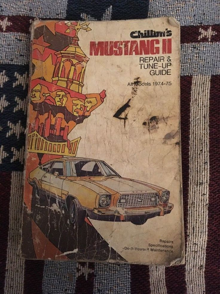 1974-1975 FORD MUSTANG SHOP MANUAL 1975 CHILTONS SERVICE BOOK MUSTANG II  | eBay