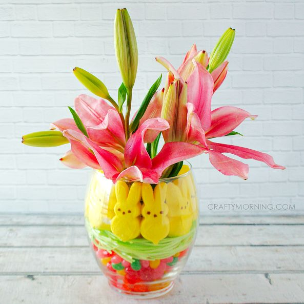 Peeps & Jelly Bean Easter Vase Centerpiece