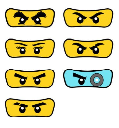 Pack of 7 Lego Ninjago Eyes от Partyummy на Etsy