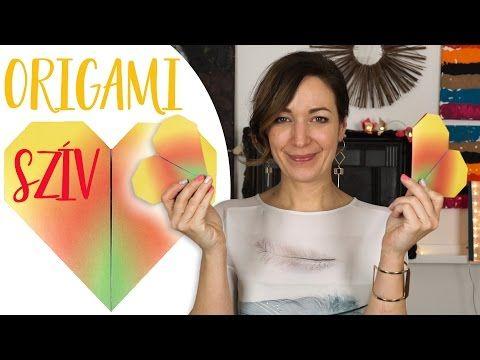 Valentin napi DIY | ❤️ Origami Szív - INSPIRACIOK.HU | Csorba Anita - YouTube