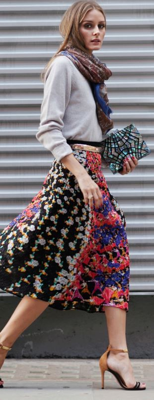 Sweater – Skin and Threads Skirt – Peter Pilotto Shoes – Schutz Scarf – CH Carolina Herrera Purse...