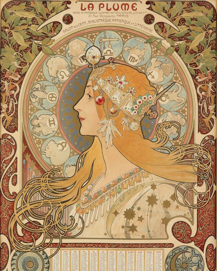 Happy New Year! Or as Czech master Alphonse Mucha might say, šťastný nový rok. This calendar was first published 120 years ago, in 1896. You can find it in our January 26th sale, Alphonse Mucha & Masters of Art Nouveau: The Harry C. Meyerhoff...