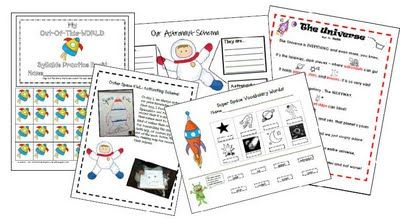 1st Grade Printable Outer Space Unit