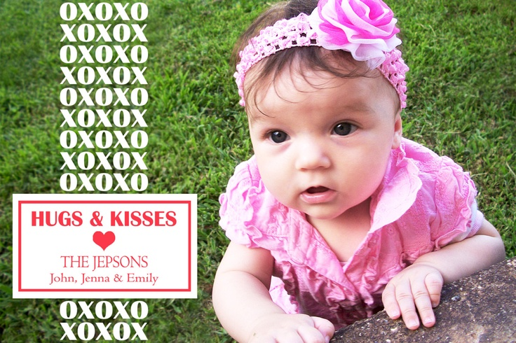 Printable Valentine's Photo Cards. Customized. $4.00