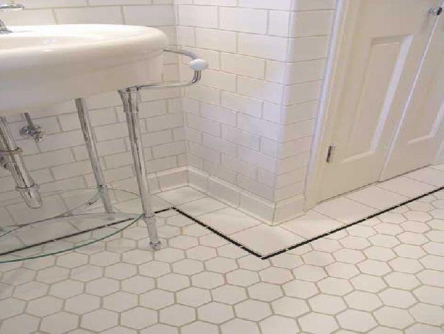 Like basin and tiled floor
