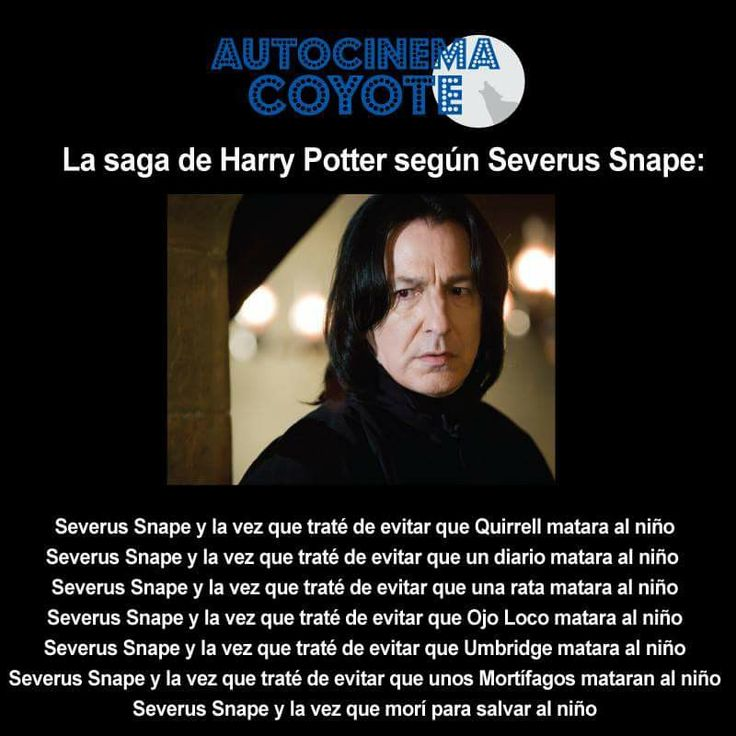 La saga de Harry Potter según Severus Snape