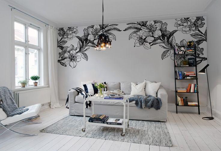 #wallpaper - Springtime double, b&w - rebelwalls.com