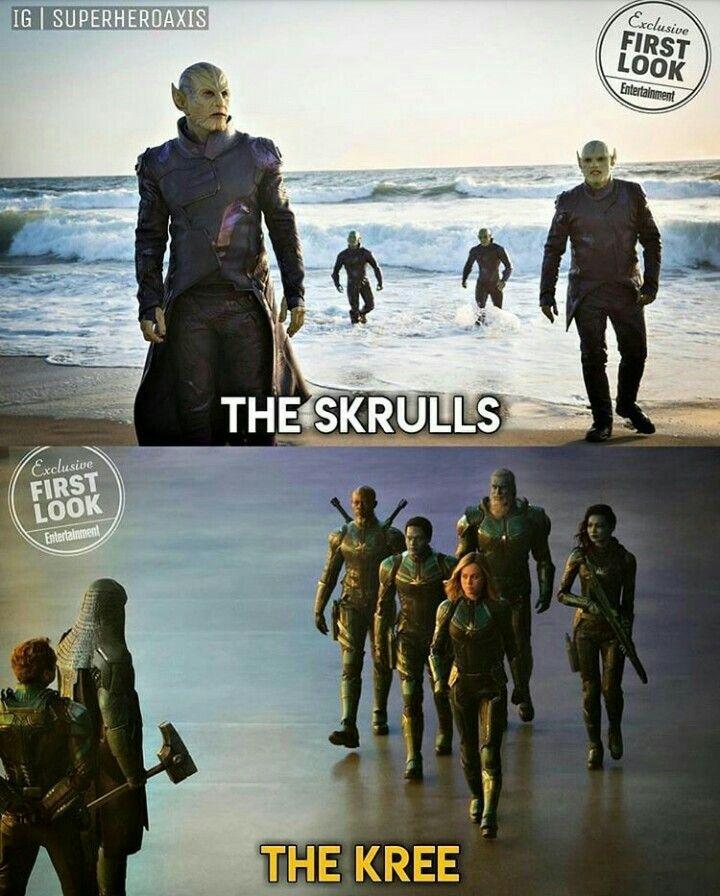 The Skrulls And The Kris In Captain Marvel Marvel Pinterest