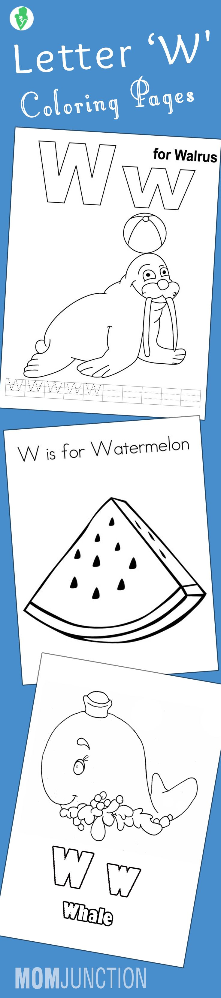 Top 10 Letter 'W' Coloring Pages Your Toddler Will Love To Learn & Color